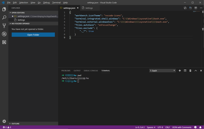Web front-end development play win10 Linux subsystem