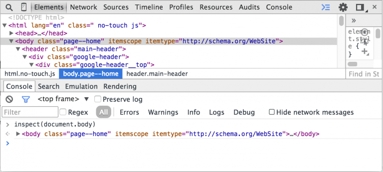 Tips for chrome developer tools (Reprint)