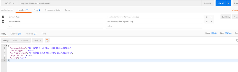 Build spring cloud microservice framework: 4. Authentication of spring security OAuth service interface