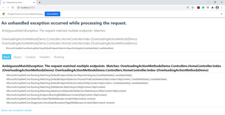 How to overload action method in asp.net core 5