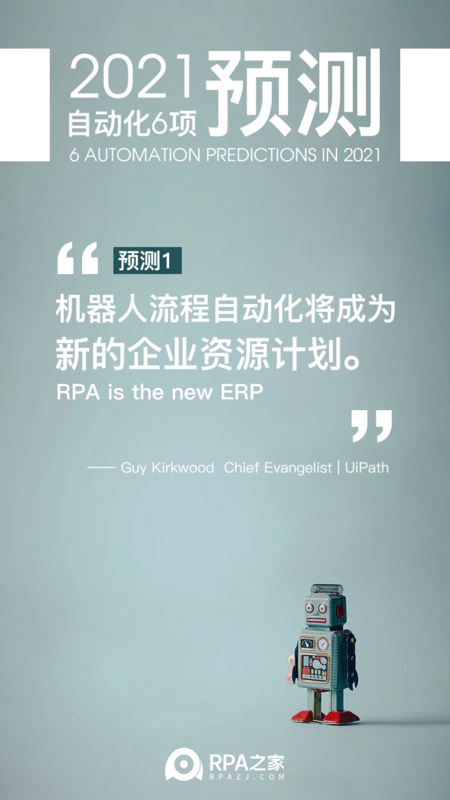 Please check the RPA automation forecast in 2021!