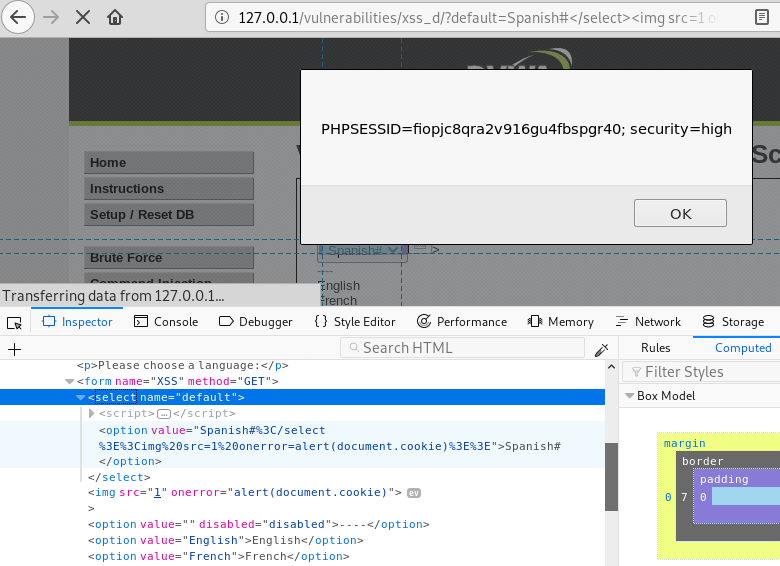 DVWA – XSS (Reflected, Stored, DOM) from Initial to