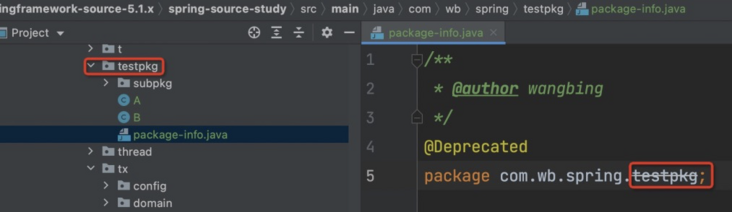 In the process of looking at the spring source code, is there a source file such as package-info.java? What is it for?