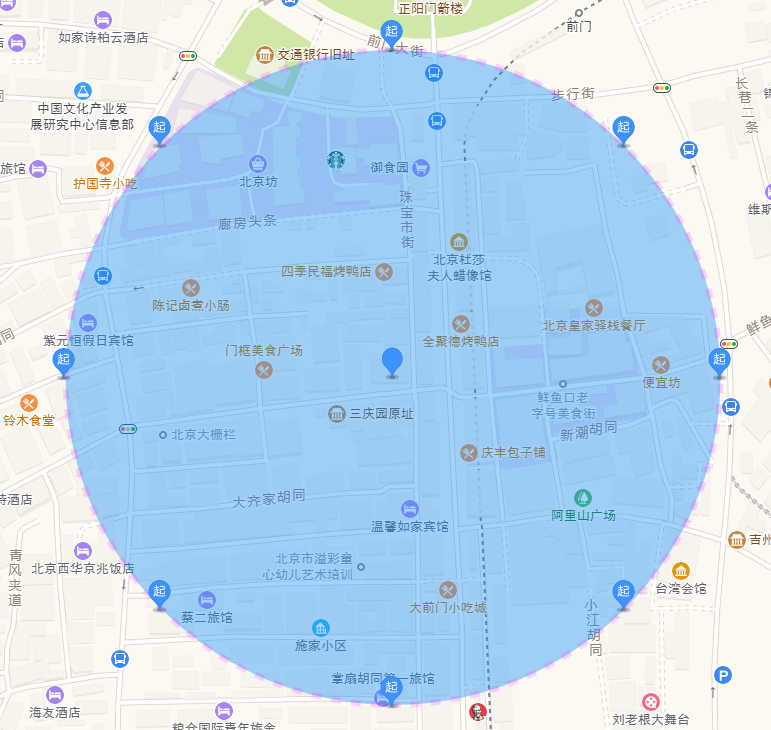 Automatic generation of electronic fence from Gaode map