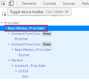 The principle of connect and provider of react Redux
