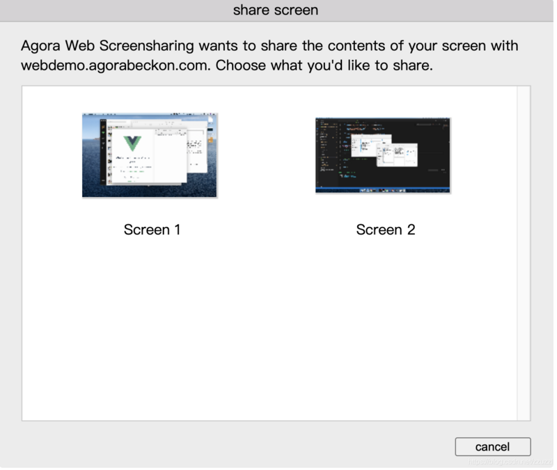 Screen sharing access guide