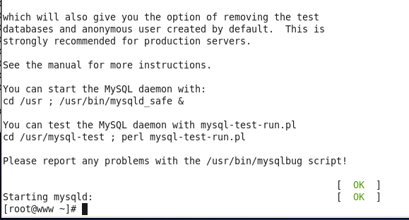 Linux \ CentOS MySQL installation and configuration
