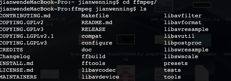 Compiling and Installing ffmpeg Source Code under MacOS