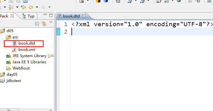 How to create XML constraint file DTD in MyEclipse?