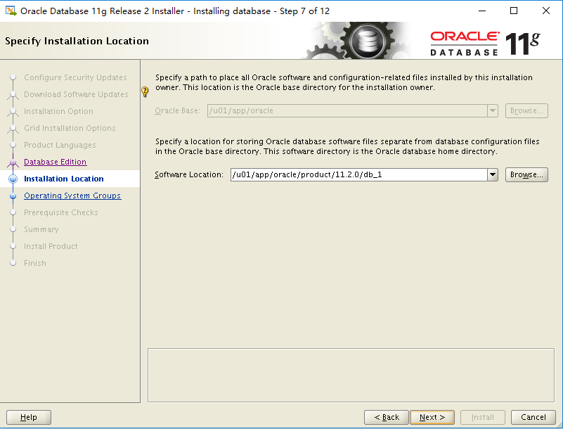 Installation of Oracle 11G Tutorial Illustration under Linux Virtual