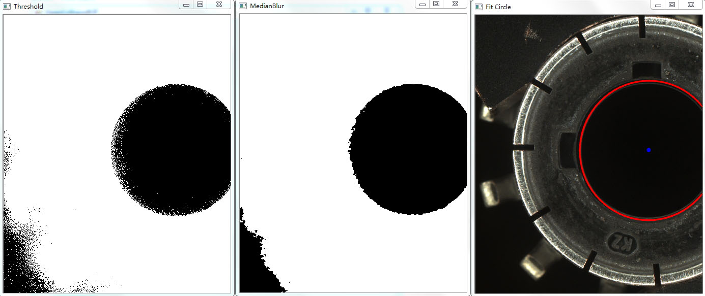 Using OpenCV of C# Edition to Achieve Example Code of Center