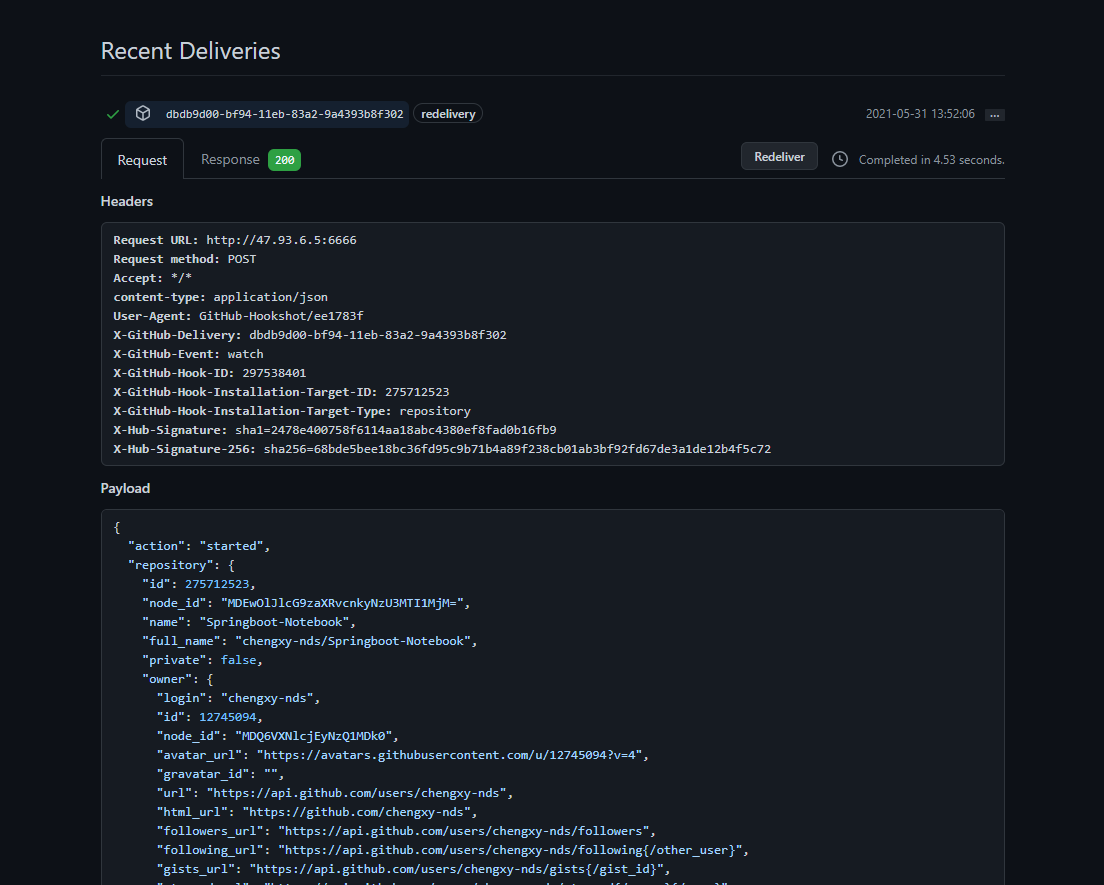 courting envy! Webhook + enterprise wechat made a code submission monitoring tool for colleagues