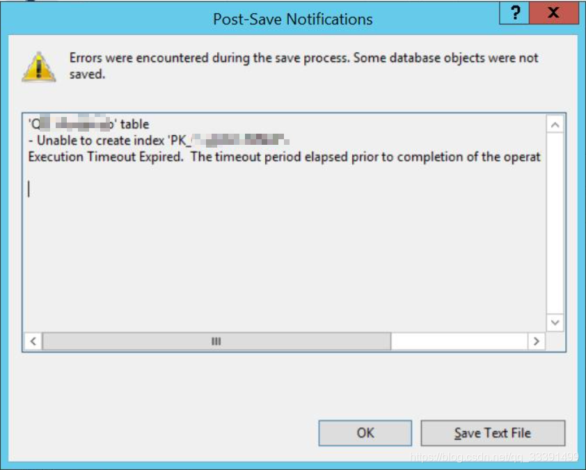 MSSQL·Execution Timeout Expired. The timeout period elapsed prior to completion of the oper..