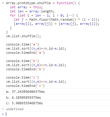 Front end bug record - stuck due to array sorting