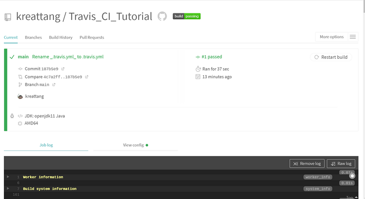 How to Use Travis CI with Java on GitHub