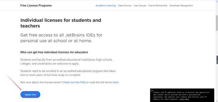 Free student activation course of IntelliJ idea (Ultimate Edition)