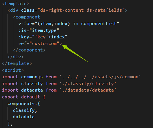 Ref invalidation in Vue component dynamic rendering