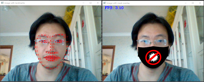 Using raspberry pie 4B to construct deep learning application (12) mask