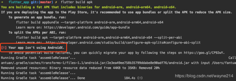 Your app isn't using Android X
