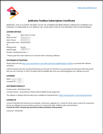Free Application for WebStorm License – Free JetBrains Open Source