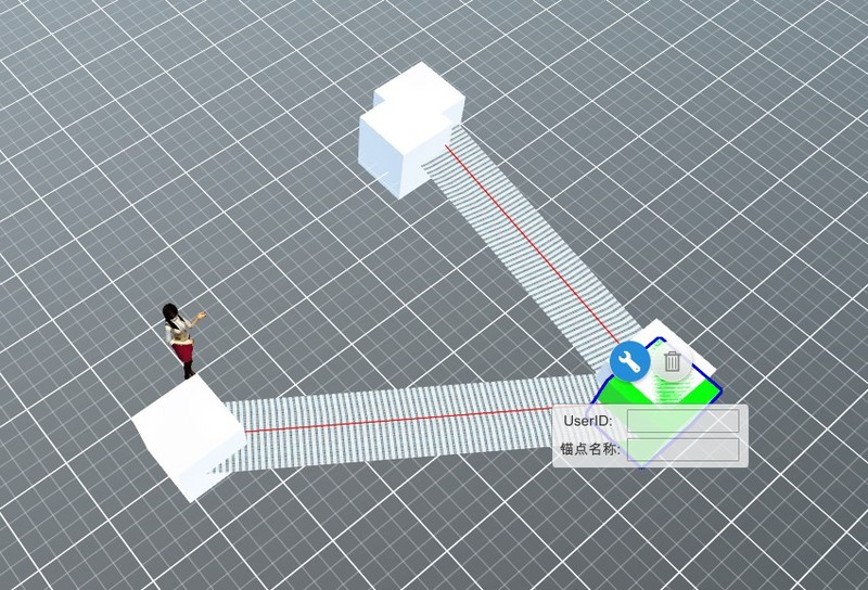 Thingjs technology to achieve UV animation, scene development components are readily available