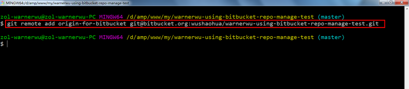 Git - initial use of bitbucket and problem solving
