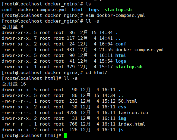 Basic configuration of nginx based on docker