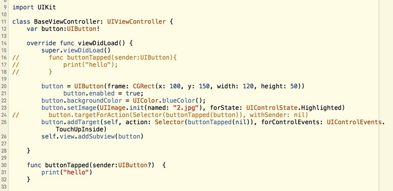 It's useless for me to write how swift adds click trigger events to buttons