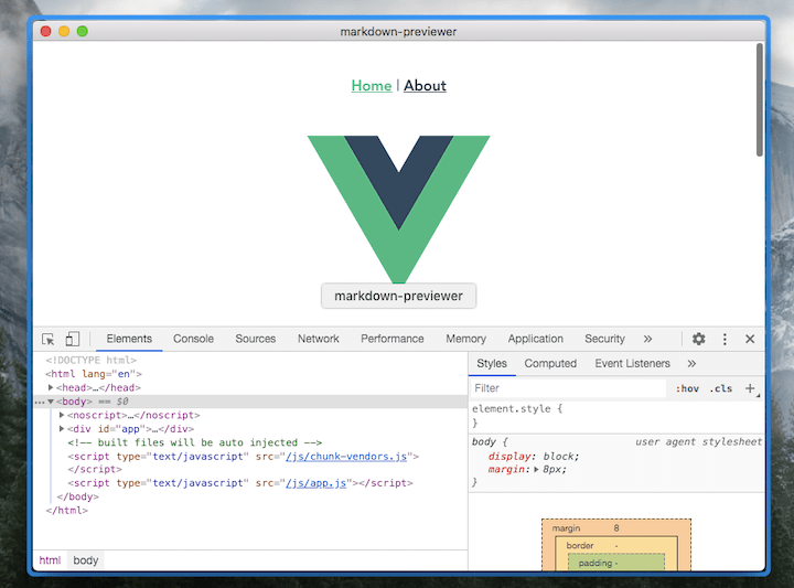 Tutorial: building markdown previewer with Vue and electron