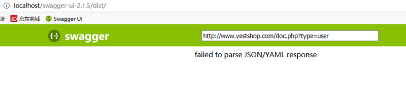 Swagger yii2 failed to parse JSON/YAML response | Develop Paper