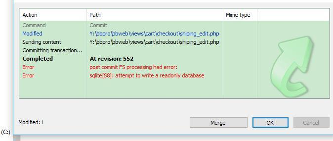 When Windows Samba service connects to Linux, submit SVN file and report error