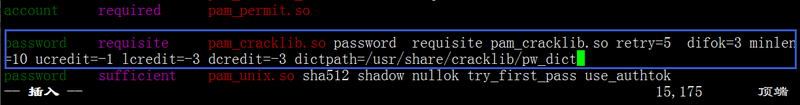 Setting password complexity in Linux