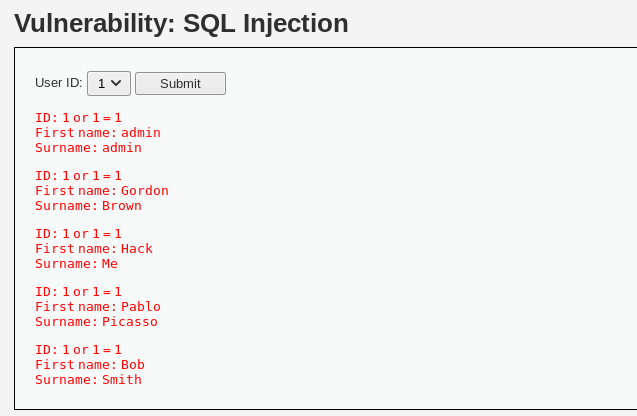 DVWA – From Initial to Abandoned SQL Injection/SQL Injection
