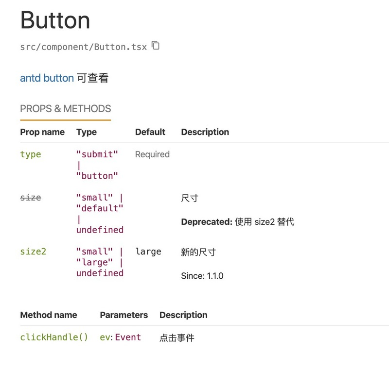 React generates documents automatically through comments
