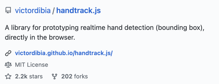 JS library for real-time monitoring hand movement can realize many interesting functions