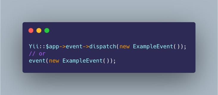 Elegant usage events in Yii