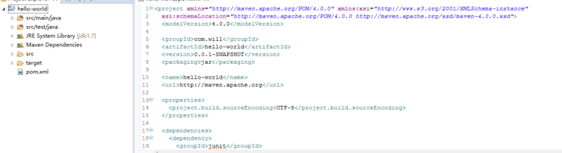The first step in Maven's actual combat is to create the hello-world project by eclipse