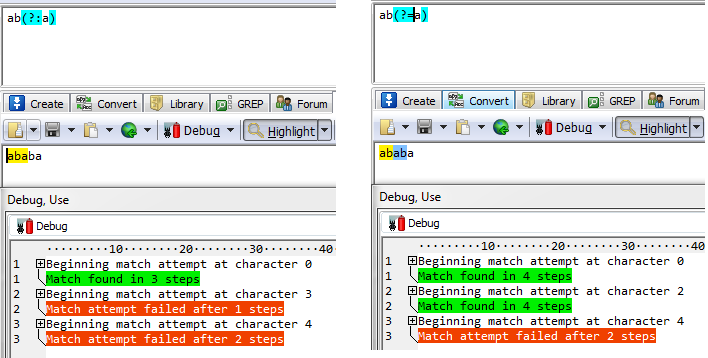Understanding the Mars (regular) expressions: trapping elements and non trapping elements