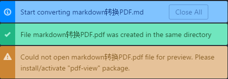 An exception in converting markdown files to PDF using atom under Ubuntu