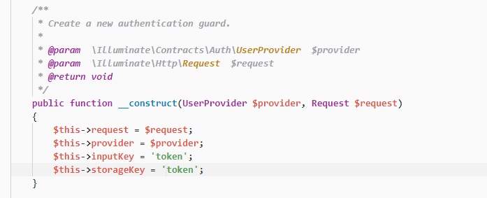 Laravel – Auth validation process and guard guard guard and