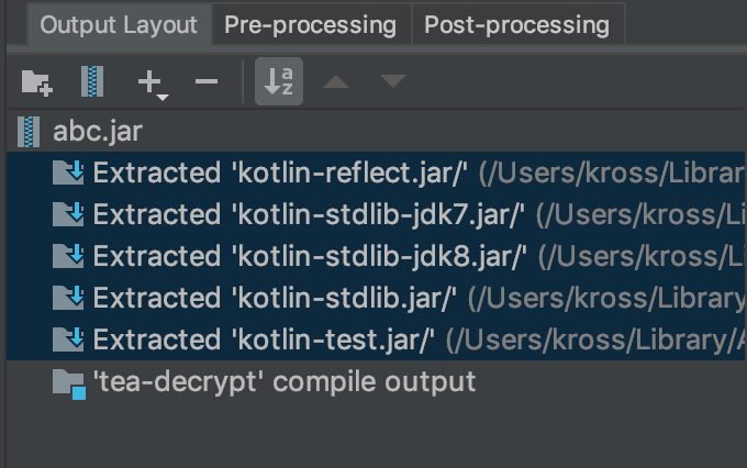 Correct posture of jar package in Java / kotliiin project using idea