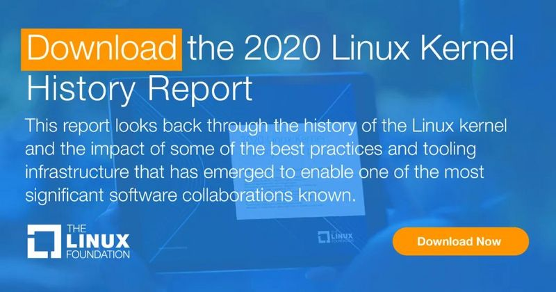 Download Linux kernel history report 2020 (29th birthday report)