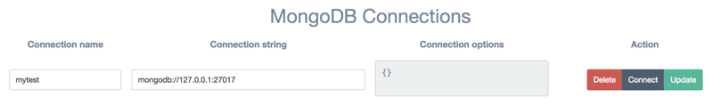 [tools] installation, startup and connection of mongodb and visual tool adminmongo