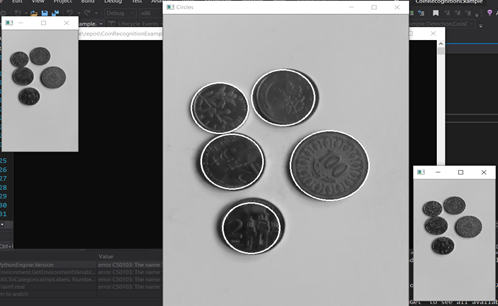 Deep learning in C # (I): using OpenCV to recognize coins