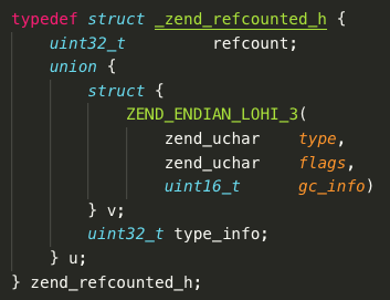 On the reference count in PHP string type