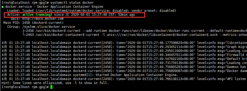 Record the first installation of docker in centos7