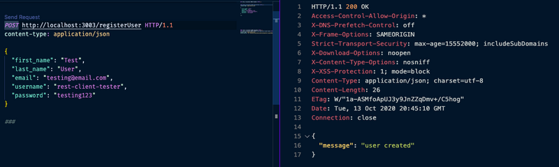 Only use the rest client plug-in of vs code to make API calls