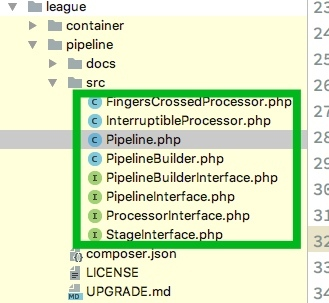A PHP pipeline plug-in League \ pipeline is recommended