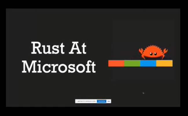 Microsoft: rust is the