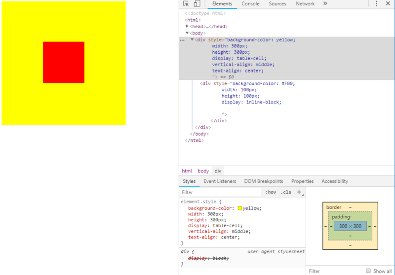 HTML/CSS] CSS implements vertical and horizontal